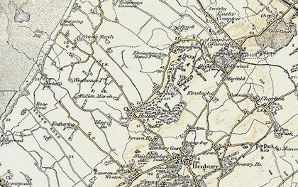 Old map of Berwick in 1899