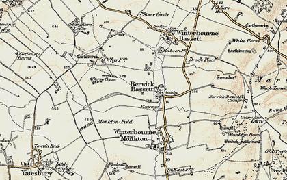 Old map of Berwick Bassett in 1899
