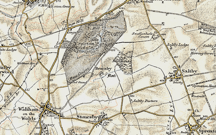 Old map of Bescaby in 1902-1903