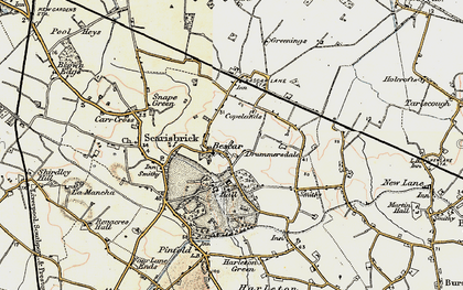 Old map of Bescar in 1902-1903