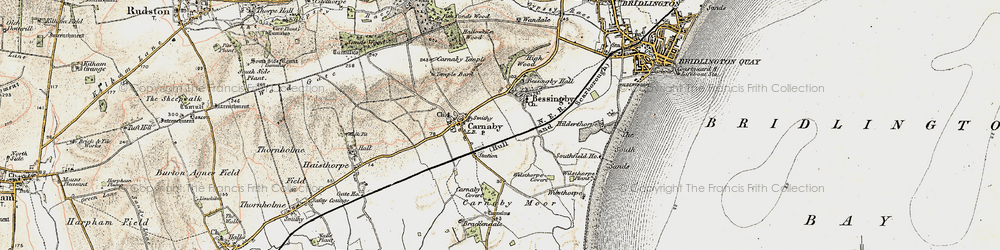 Old map of Bessingby in 1903-1904