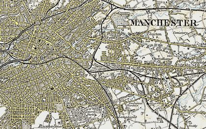 Old map of Beswick in 1903