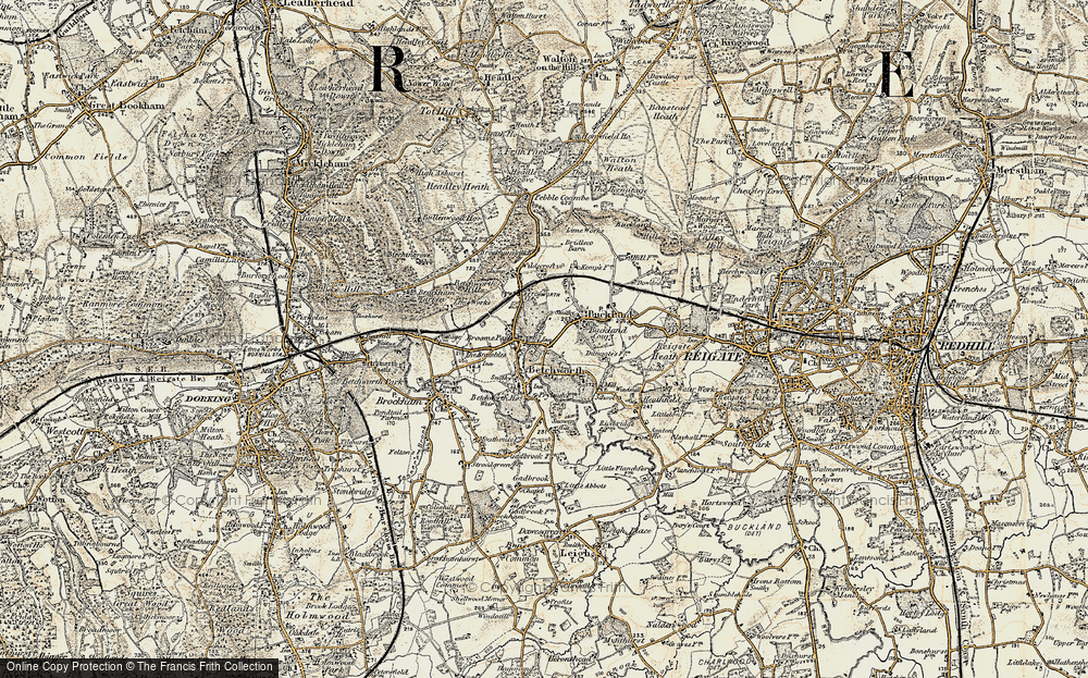 Old Map of Betchworth, 1898-1909 in 1898-1909