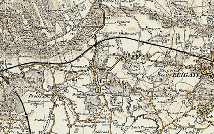 Old map of Betchworth in 1898-1909