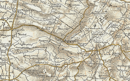 Old map of Bethania in 1901-1903