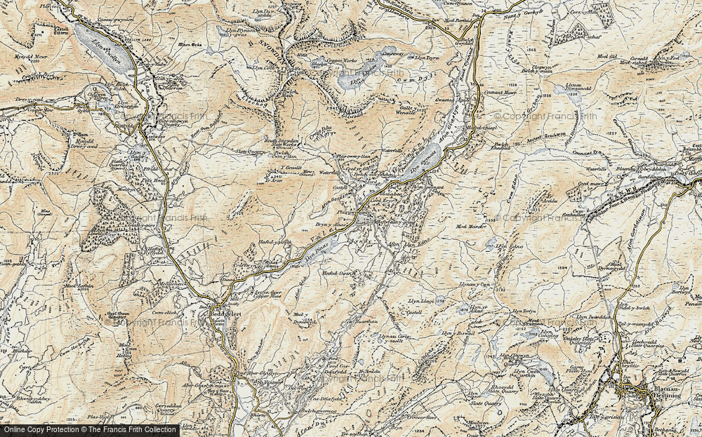 Old Map of Historic Map covering Afon Gorsen in 1903