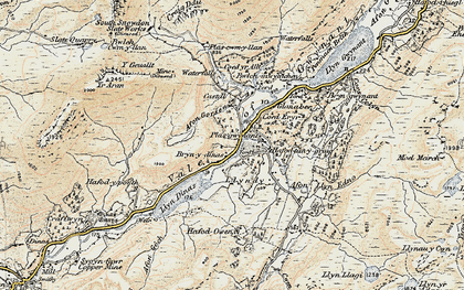 Old map of Afon Gorsen in 1903