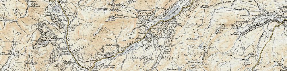 Old map of Afon Gorsen in 1903