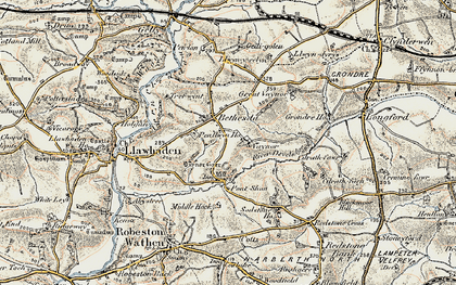Old map of Bethesda in 1901