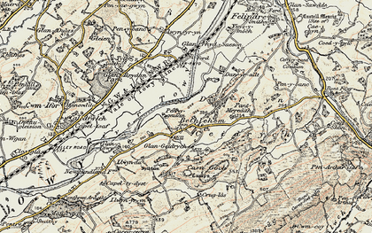 Old map of Bethlehem in 1900-1901