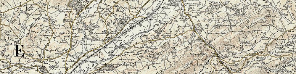 Old map of Y Caer fawr in 1900-1901
