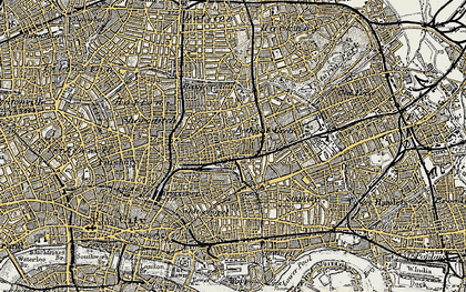 Old map of Bethnal Green in 1897-1902
