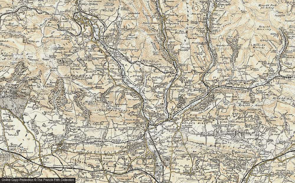 Old Map of Bettws, 1900 in 1900