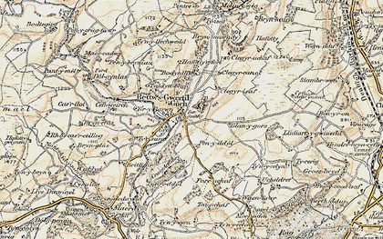 Old map of Bryn-Crâs in 1902-1903