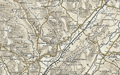 Old map of Betws Bledrws in 1901-1902