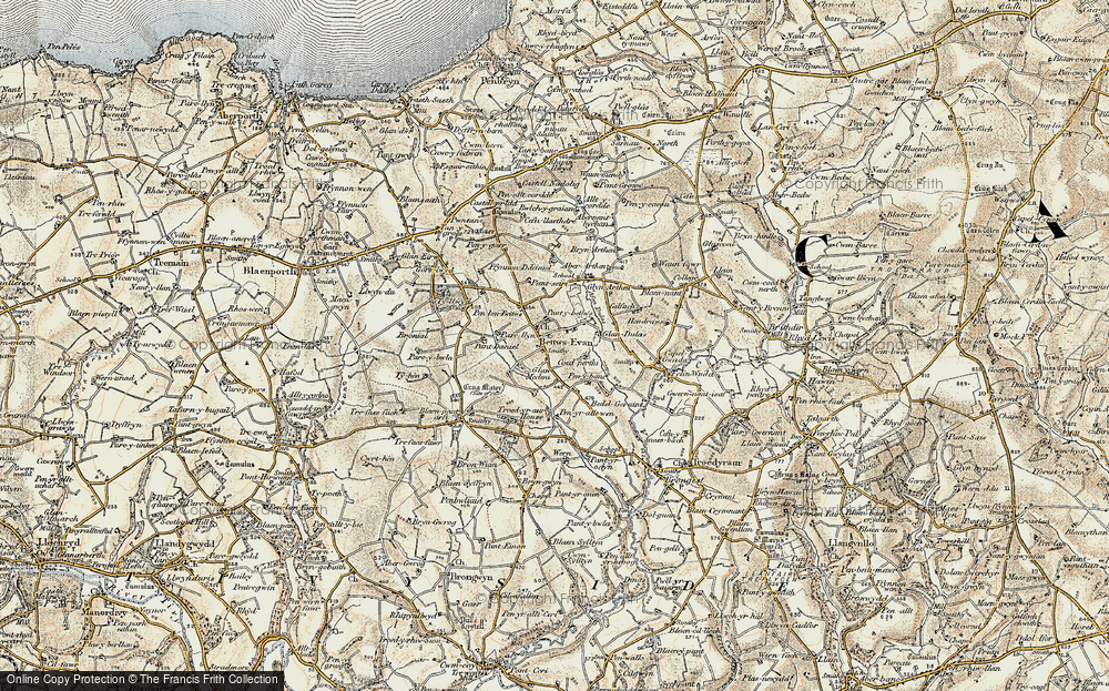 Old Map of Betws Ifan, 1901 in 1901