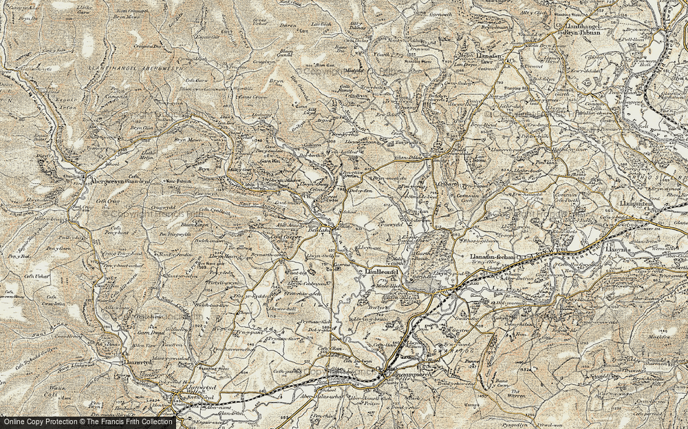 Old Map of Historic Map covering Afon Cammarch in 1900-1902