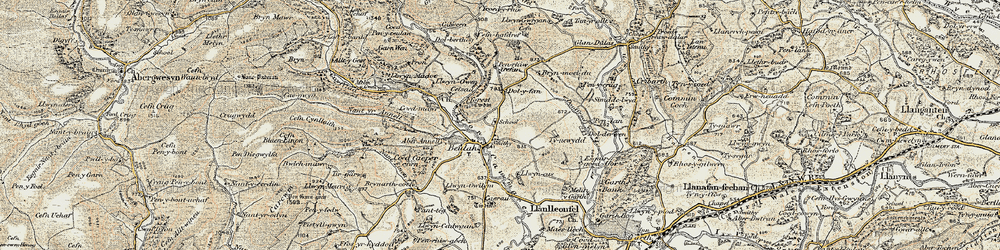 Old map of Aberannell in 1900-1902