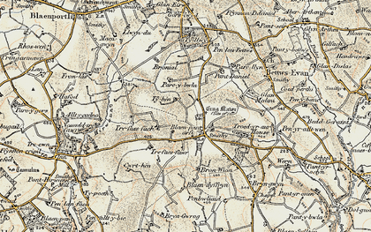 Old map of Beulah in 1901