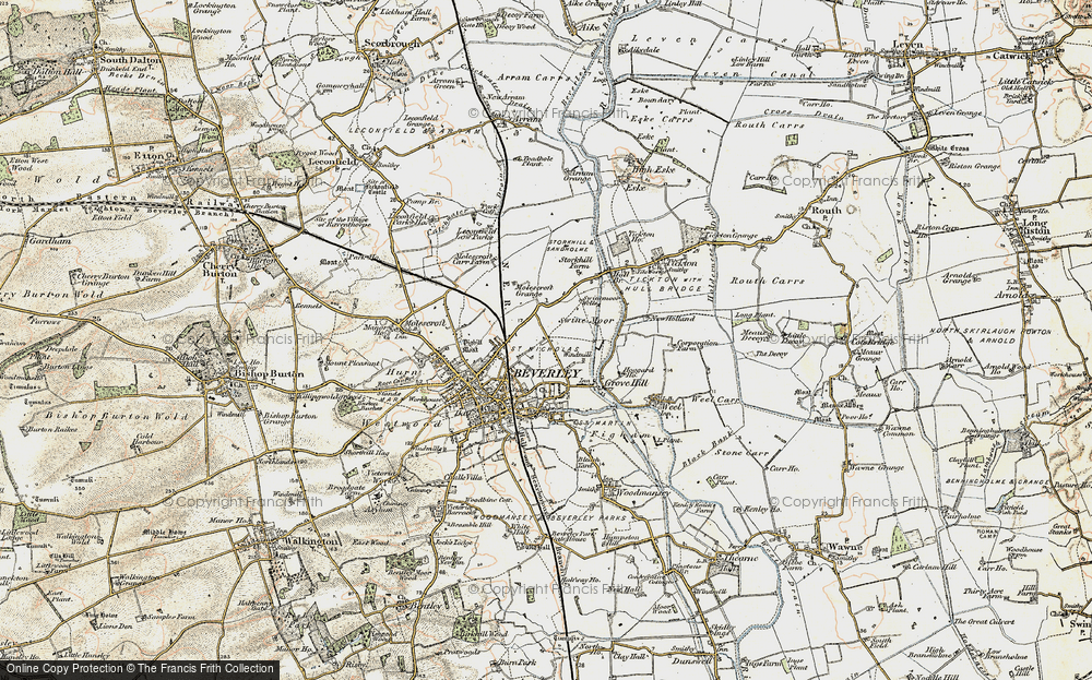 Old Map of Beverley, 1903-1908 in 1903-1908
