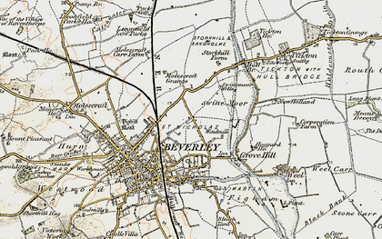 Old map of Beverley in 1903-1908