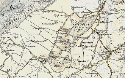 Old map of Bevington in 1899-1900