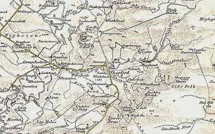 Old map of Ashy Cleugh in 1901-1904