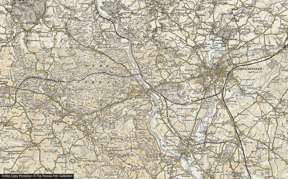 Old Map of Bewdley, 1901-1902 in 1901-1902