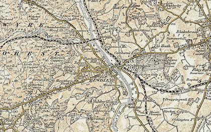 Old map of Bewdley in 1901-1902