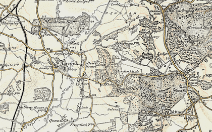 Old map of Bewley Common in 1899