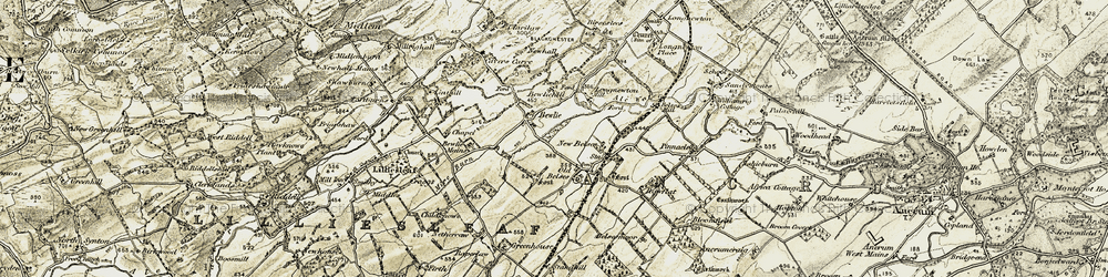 Old map of Williamrig Cottage in 1901-1904