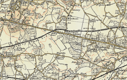 Old map of Bexley in 1897-1902