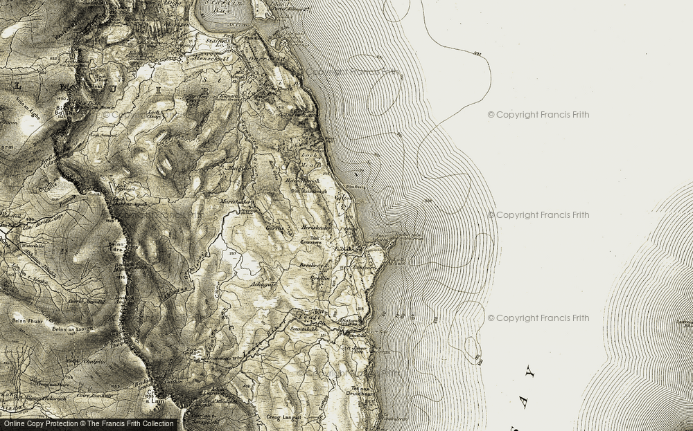 Old Map of Bhaltos, 1908-1909 in 1908-1909