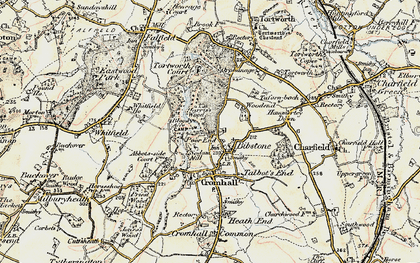 Old map of Bibstone in 1899