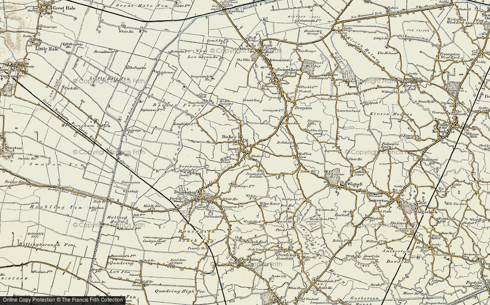 Old Map of Bicker, 1902-1903 in 1902-1903