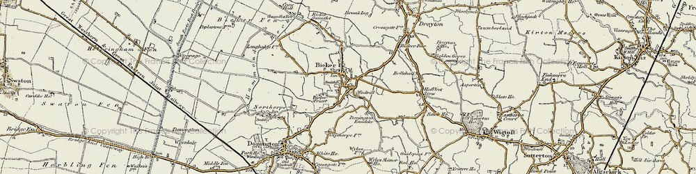 Old map of Bicker in 1902-1903