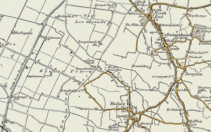 Old map of Bicker Gauntlet in 1902-1903