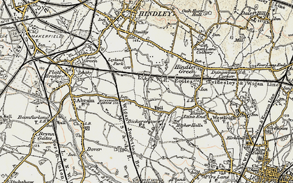 Old map of Bickershaw in 1903