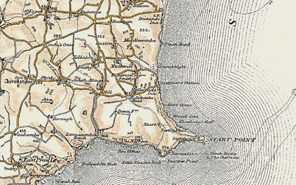 Old map of Lannacombe Beach in 1899