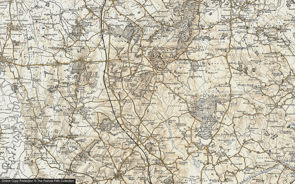 Old Map of Historic Map covering Larkton Hill in 1902