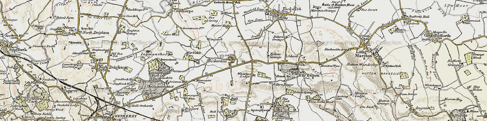 Old map of Wharton Lodge in 1903-1904