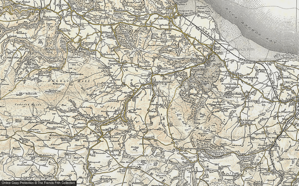Old Map of Historic Map covering Allercott in 1898-1900