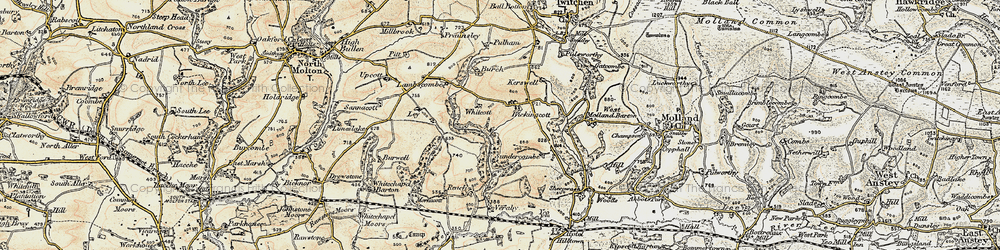 Old map of Whitcott in 1900