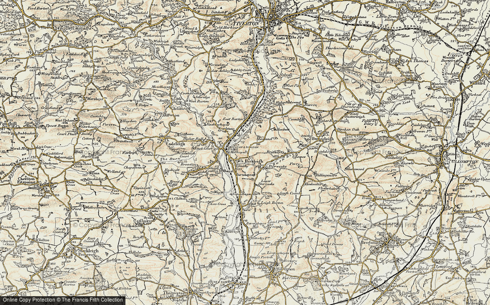 Old Map of Bickleigh, 1898-1900 in 1898-1900