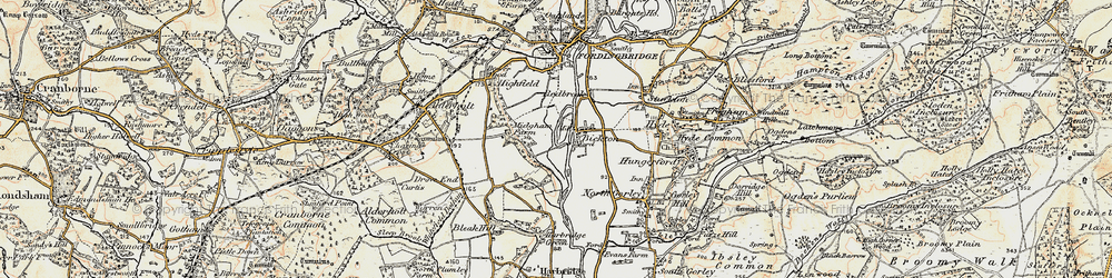 Old map of Bickton in 1897-1909