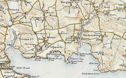 Old map of Bicton in 0-1912