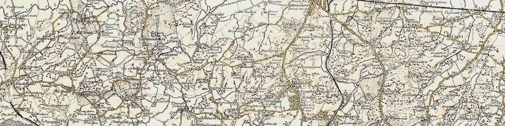 Old map of Bidborough in 1897-1898