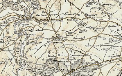 Old map of Biddestone in 1899