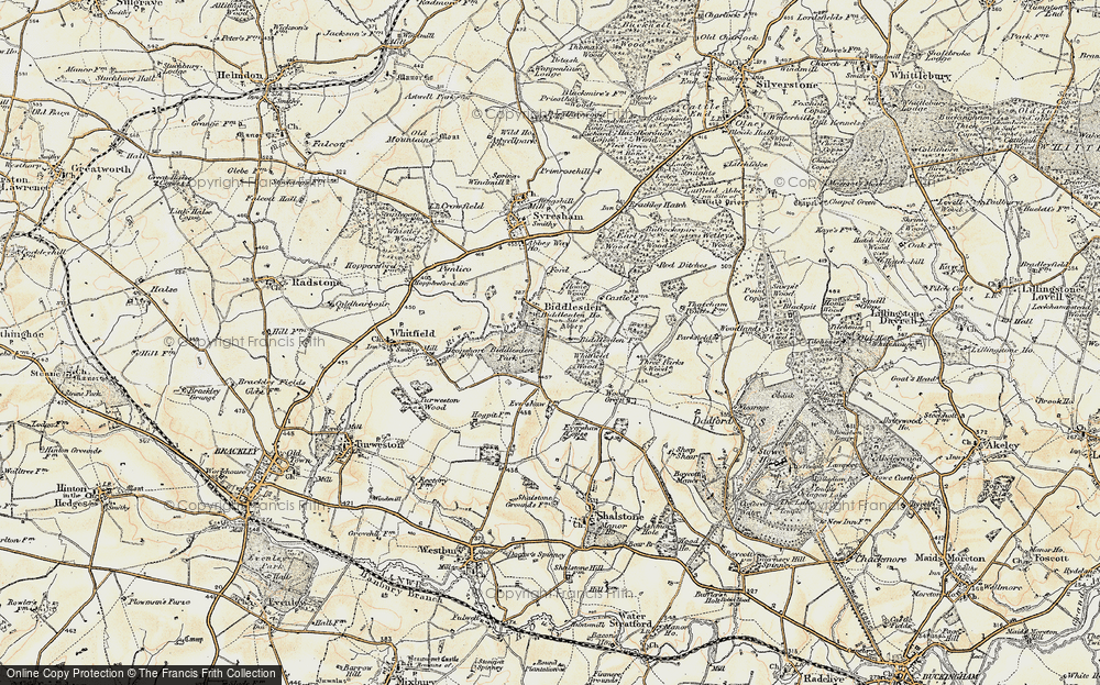 Old Map of Historic Map covering Wood Green in 1898-1901