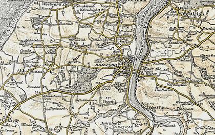 Old map of Bideford in 1900